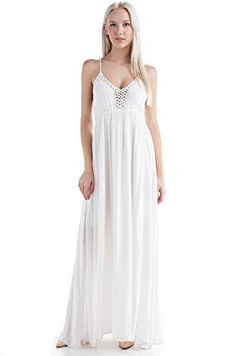 Solitaire Crochet Dress (medium, Ivory) -
