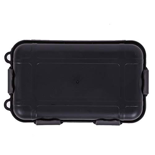Junyee Kunststoff Überlebenskoffer für den Außenbereich, praktische Reise-Erste-Hilfe-Sets Medizinische Notfall-Überlebensdauer Stoßfeste, Wasserdichte Box für Zuhause, Outdoor Adventures (Black , S)