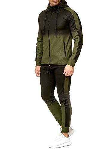 OneRedox   Herren Trainingsanzug   Jogginganzug   Sportanzug   Jogging Anzug   Hoodie-Sporthose   Jogging-Anzug   Trainings-Anzug   Jogging-Hose   Modell 1274 Oliv