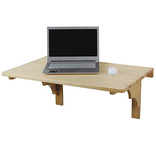 Lebendes Büro/einfacher Ablagetisch An der Wand montierter Tisch Laptop Ständer Schreibtisch Klappbarer Schreibtisch Ablagefach Mehr Platz, Massivholz, 3 Größen (Größe: 80 x 50 cm)