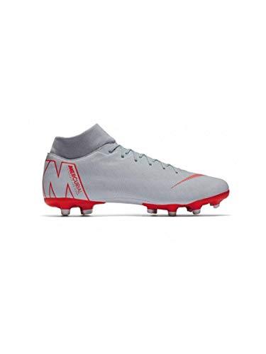 Nike Unisex-Erwachsene Superfly 6 Academy Fg/Mg Sneakers, Mehrfarbig (Wolf Grey/Lt Crimson/Pure Platinum 001), 39 EU
