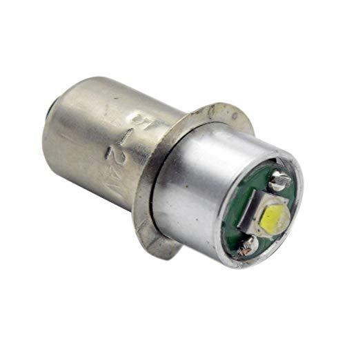 Ruiandsion P13.5S Taschenlampe Glühbirne DC 3-18 V Weiß CREE LED Lampe für Taschenlampe Taschenlampe Scheinwerfer, negative Erde (1er Pack)