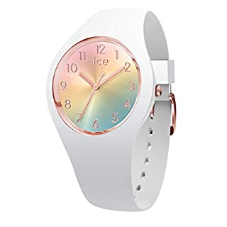 Ice-Watch - Ice Sunset Rainbow - Montre Blanche pour Femme avec Bracelet en Silicone - 015743 (Small) (B07D2F4NMH) | Amazon price tracker / tracking, Amazon price history charts, Amazon price watches, Amazon price drop alerts