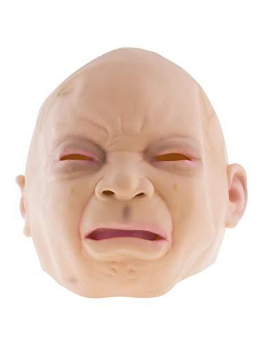 Luxuspiraten - Kostüm Accessoires Zubehör Horror Latex Maske schreiendes Baby Kind, Mask Crying Baby, perfekt für Halloween Karneval und Fasching, Natur