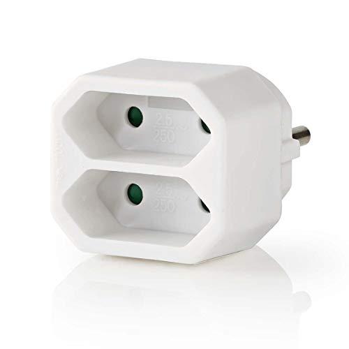 TronicXL Mini Steckdosenleiste 2-fach Euro Verteiler steckdose weiss 2er 2fach Adapter Stecker Euro Weiche
