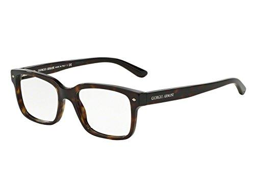 Armani Unisex-Erwachsene 0AR7066 Brillengestelle, Braun/Transparent, 5