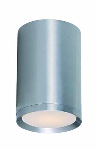 Maxim Lighting 6100 Lightray Outdoor Ceiling Mount, Brushed Aluminum Finish, 5 by 7.75-Inch by Maxim Lighting