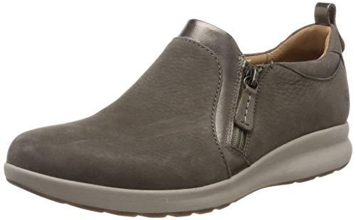 Clarks Damen Un Adorn Zip Slipper, Grau (Taupe Combi), 40 EU (Clark Von Schuhe)