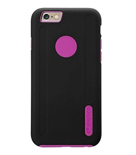 Melkco Kubalt Double Layer Case für Apple iPhone 6 weiß/schwarz schwarz / rosa