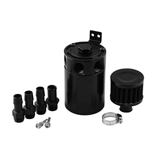 Universal-3 Port Aluminium Waste Oil Recovery Pot fangen Luftfilter Set Auto Modified Motor Ventilator -