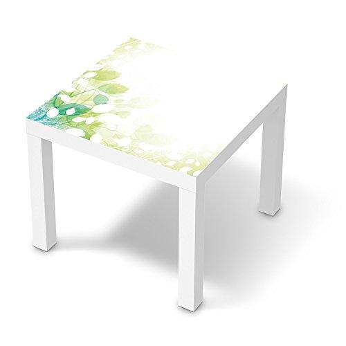 creatisto Möbelfolie selbstklebend für IKEA Lack Tisch 55x55 cm I Dekor Muster Möbel-Sticker Folie I Wohnung aufpeppen Dekoartikel I Design Motiv Flower Light