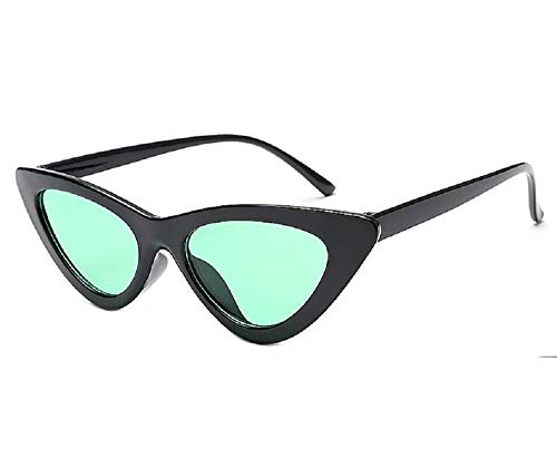 Yibaision Damen Sonnenbrillen, Frauen Weinlese Katzenaugen UV-Schutz Sonnenbrille Retro kleiner Rahmen UV400 Eyewear arbeiten Damen-Gläser,17 Paar(,C)