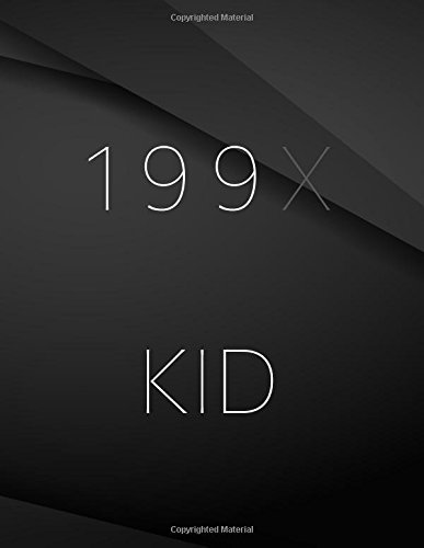 199X kid.: Song and Music Composition Jottings Drawings Black Background White Text Design - Large 8.5 x 11 inches - 110 Pages notebooks and journals, Music Composition, Sketching