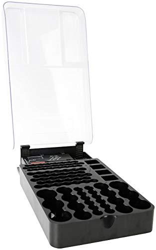 tka Köbele Akkutechnik Batterietester: 2in1-Batterie-Organizer für 93 Batterien, mit Batterie-Tester (Batterieorganizer)