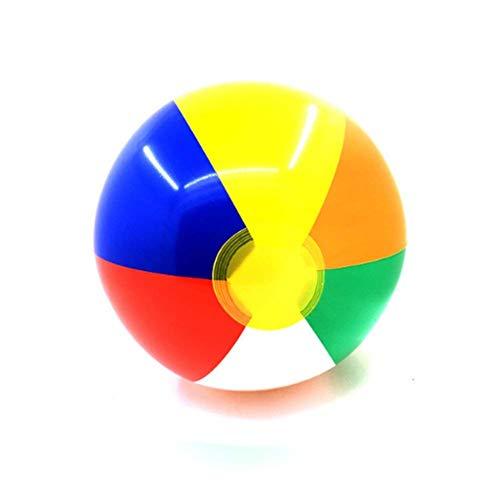 Naisicatar 6 PCS Klassisch Inflatable Rainbow Beach Ball bewegliche Bunte Pool-Party-Bevorzugungen Strand Spielzeug Amusant Spielzeug (Rainbow Beach Ball)