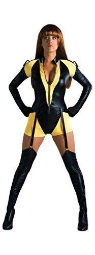 e Kostüm Damen 3-tlg. Overall, Gürtel, Stulpen schwarz gelb - M ()