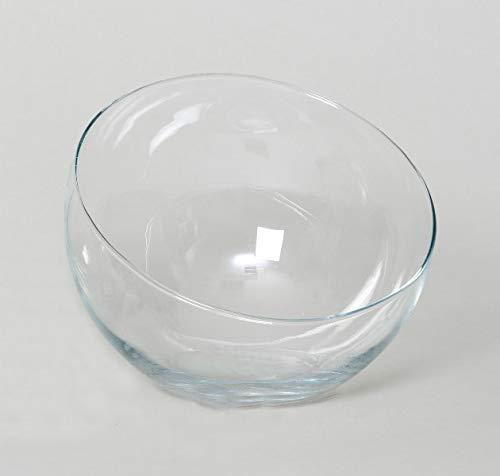 INNA Glas Schräge Kugelvase Nelly aus Glas, transparent, 18 cm, Ø 16,5 cm - Kugelvase Glas/Windlichthalter