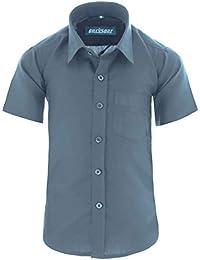 24c503fe8fe788 GILLSONZ A0 Kinder Party Hemd Freizeit Hemd bügelleicht Kurz ARM mit 9  Farben Gr.86