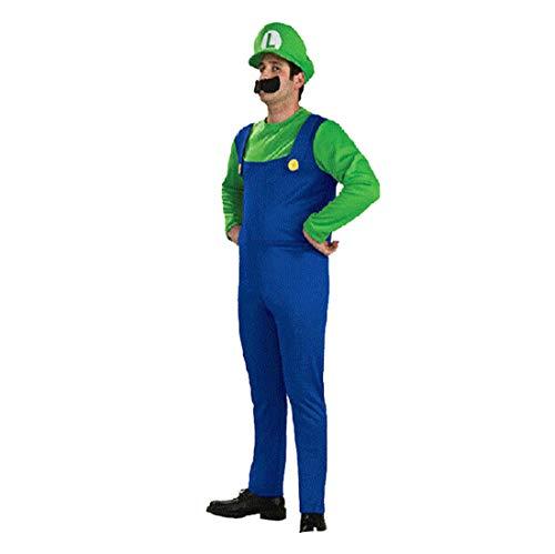 CTOOO 2018 Herren Halloween Mario Thema Kleidung Cosplay Party Kostüme Grün (Thema Party Mario)