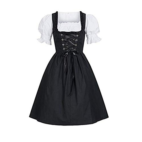 SKBOOS Kleiden Plus Size 4XL Damen Damen Oktoberfest Kostüme Beer Maid Authentic German Dirndl Oktoberfest Party Halloween Kleid