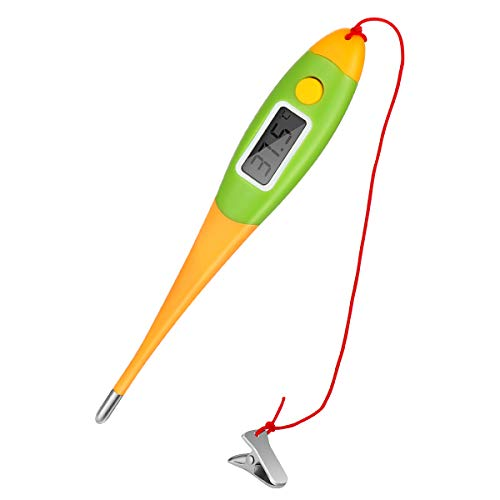 Haustier Thermometer UEETEK Digital Fieberthermometer für Haustier Hunde Tiere mit flexibler Spitze Schnur und Klammer -