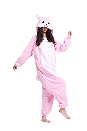 Imagen de magicmode unisex cosplay disfraces de animales kigurumi pijamas adultos enterizo anime sudadera con capucha ropa de dormir de color rosa conejo m alternativa