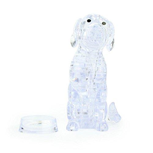 diy gadget blöcke gebäude spielzeug als geschenk 3d kristall ein süßer hund modell (White) (Diy Weißes Kaninchen Kostüm)