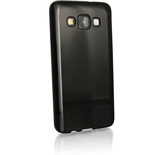 Galleria fotografica igadgitz U3564 Protettiva Custodia Gel TPU Per Samsung Galaxy A5 SM-A500F Case Cover e Pellicola - Nero