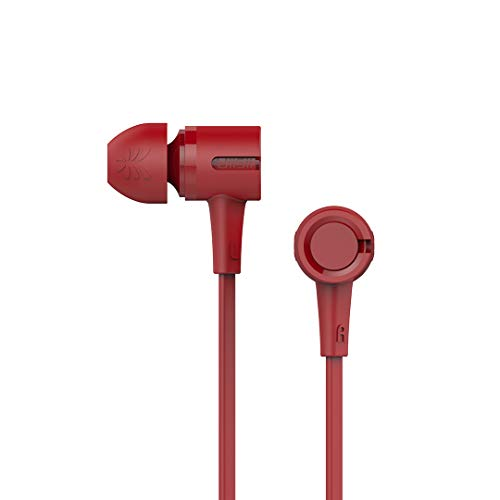 UiiSii U7 Deep Bass CD-Like in-Ear Earphones U7 Dynamic Driver Deep Bass CD-Like in-Ear Earphones Unique CD-Like Design, Powerful Bass, Environmental TPE Cable, Full Compatibility (RED)