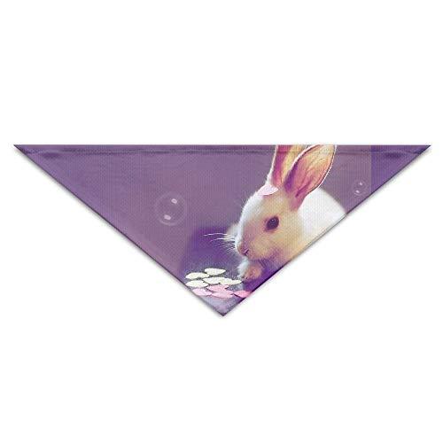 nxnx Haustier-Hundebandana-Schal-Dreieck-Schellfisch-Kaninchen-Osterhasen-Drucken-Halstuch, Geburtstags-Zusatzgeräte für Katzen u. Haustiere
