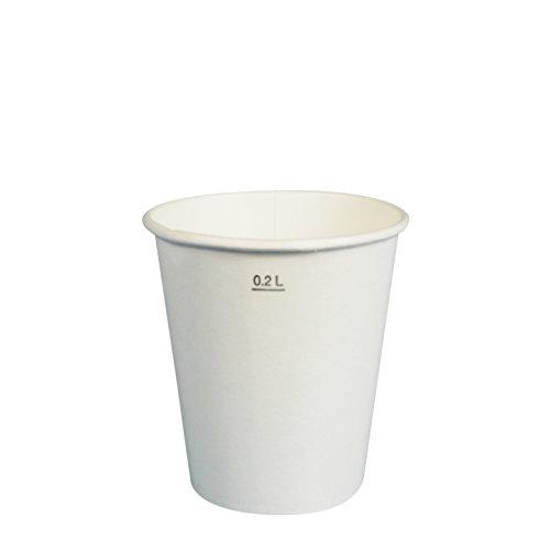 100 Gobelets Jetable Carton Blanc 20 cl