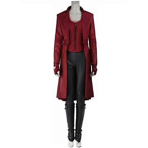 coskey Scarlet Hexenkostüm für Damen, komplettes Set, Avengers Endgame Cosplay Kostüm - - Small (Scarlet Kostüm Hexe)