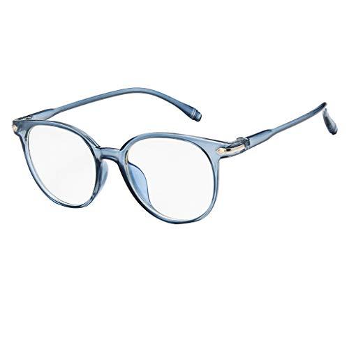 SHINEHUA Retro Brille ohne stärke Student Slim-Brille Damen Herren Nerdbrille Linsen Brillenfassung Clear Lens Dekobrillen modisch rund Streberbrille Strahlenschutz Lesebrille für Computer PC