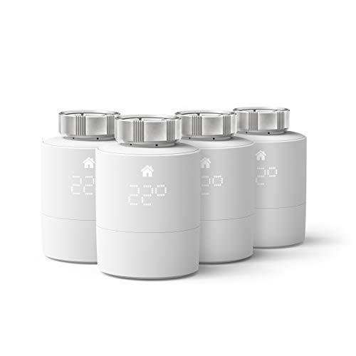Oferta de tado° Cabezal Termostático Inteligente - Pack Quattro, Accesorio para control de habitaciones múltiples, control de calefacción inteligente, Instálalo tú mismo, Blanco