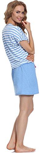 Merry Style Damen Nachthemd MS10-103 Blau/Amaranth