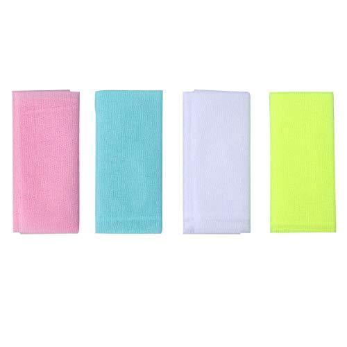 LURROSE 4 stücke Nylon japanische schönheit Haut Bad waschlappen Handtuch Peeling Nylon Badetuch -