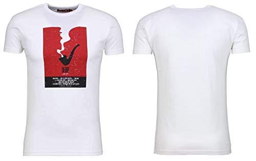 derbe Hamburg Herren T-Shirts, Größe:M, Hamburg :Pipe - White