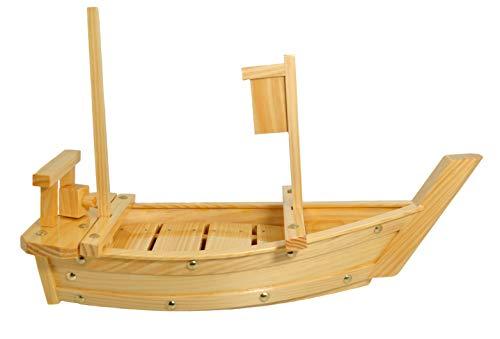 Wooden sushi boat vassoio 50cm (19.69-inches) earthen