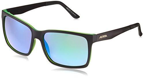 Alpina Sonnenbrille Sport Style DON HUGO, black matt-green, A8522331