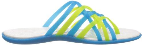 Crocs  Huarache, Damen Zehentrenner Blau (Ocean/Oyster)