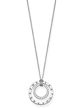 Thomas Sabo Damen-Kette mit Anhänger 925 Silber Diamant (1 ct) weiß - D_KE0021-725-14-L45v