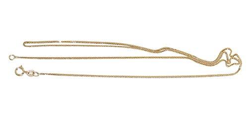 Hobra-Gold 42 Cm Goldkette - Geschmeidige Zopfkette - Kette Gold 585 Geschliffene Halskette