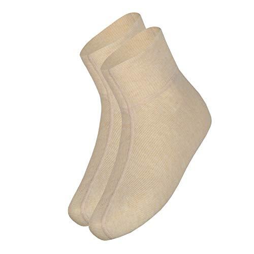 Angora wobera Fußwärmer oder Bettschuhe (Gr. 3 (43-47), Farbe: beige)