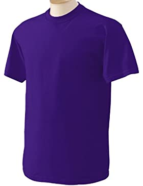 Gildan - Camiseta básica de manga corta Modelo Heavy Cotton para hombre - 100% algodón gordo