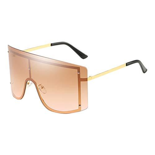 Lazzboy Mode Mann Frauen übergröße Sonnenbrille Brille Shades Vintage Retro Style Klassische Polarisierte Damen Mit Strass Rahmen Sunglasses Für Fahren Reisen(F)