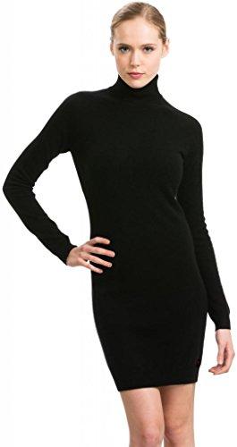 Rollkragenkleid - 100% Kaschmir - Citizen Cashmere (Schwarz S) 35 204-02-01 (Cashmere Knit Top)