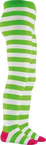 Playshoes Mädchen Blockringel, Oeko-Tex Standard 100 Strumpfhose, (grün/weiß 46), 98 (Herstellergröße: 98/104) (Creme Mädchen Kostüm)