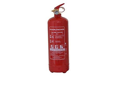 Feuerlöscher 2kg ABC Pulver Auto-Feuerlöscher mit KFZ-Drahthalter EN 3 inkl. ANDRIS® Prüfnachweis
