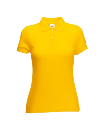 Fruits of the Loom T-shir polo pour femme Jaune - sunflower