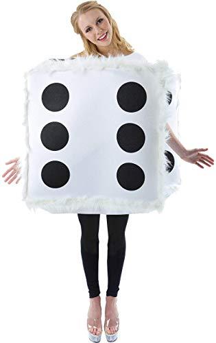 Kostüm Würfel - Orion Adult Fluffy Dice Fancy Dress Costume